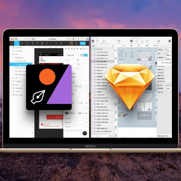 Figma for real-time collaboration. It's like Sketch in the browser