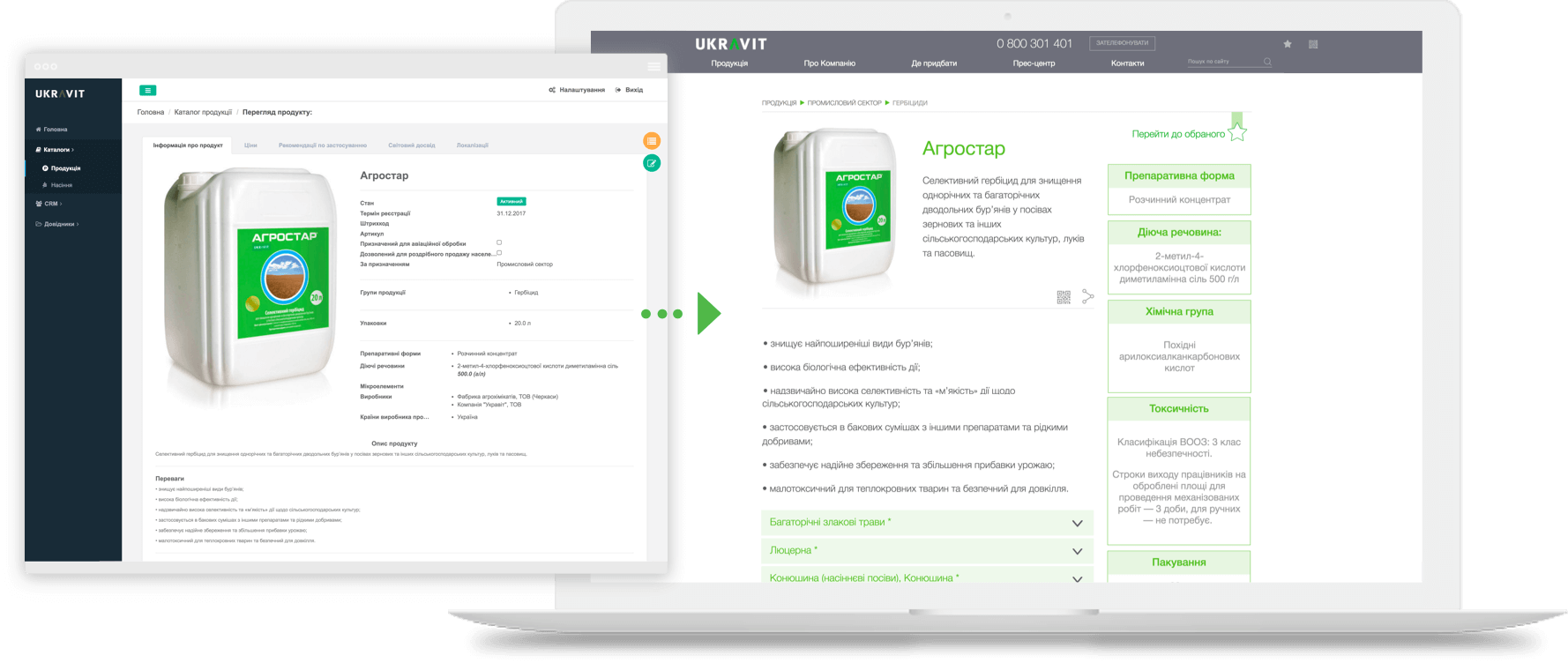 UKRAVIT: CRM for agro business company, Syndicode