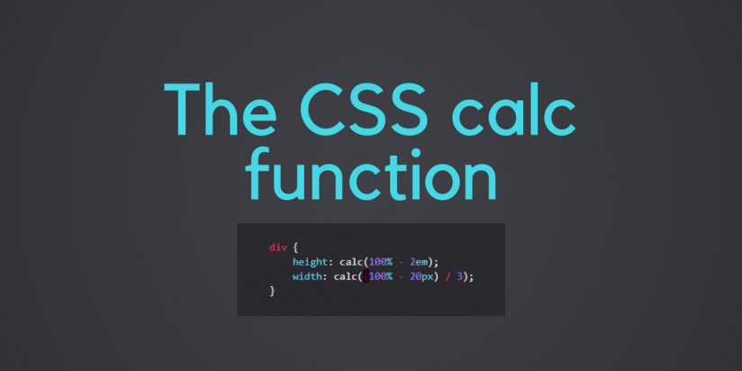 The CSS Calc function. Syndicode news