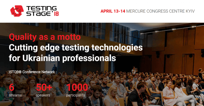 TestingStage'18 conference for professionals in testing. Syndicode events