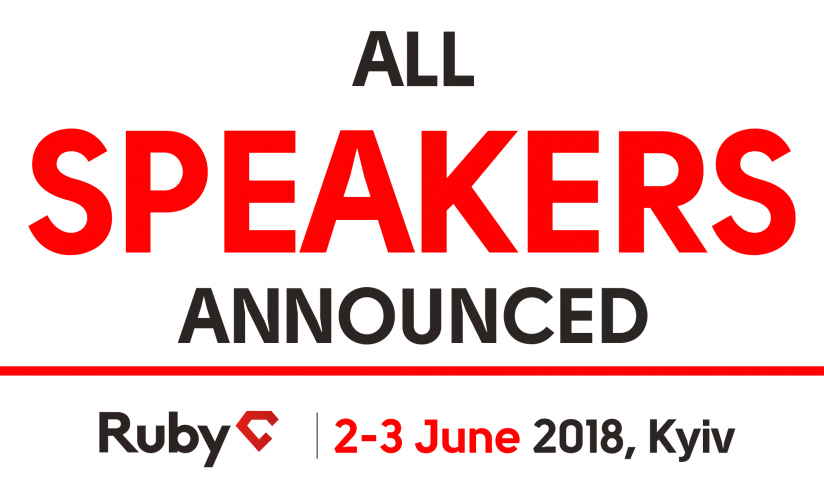 RubyC-2018 full speakers list announced! Syndicode event