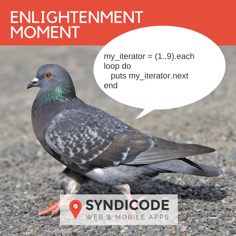 Enlightenment moment. Syndicode humor