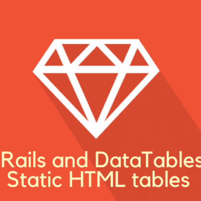 Ruby on Rails and DataTables plug-in  Static HTML tables