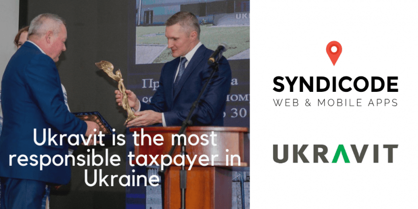 Ukravit is recognized as the most responsible taxpayer in Ukraine. Syndicode news.