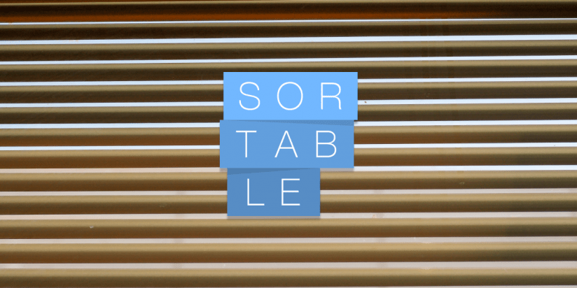 Sortable JS library for reorderable drag-and-drop lists